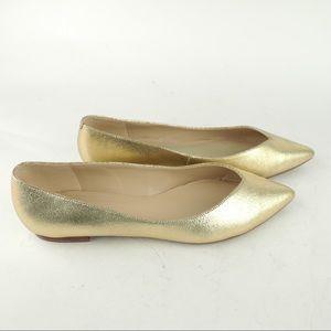 Marc Fischer Analia sz 9.5 gold pointy toe flats